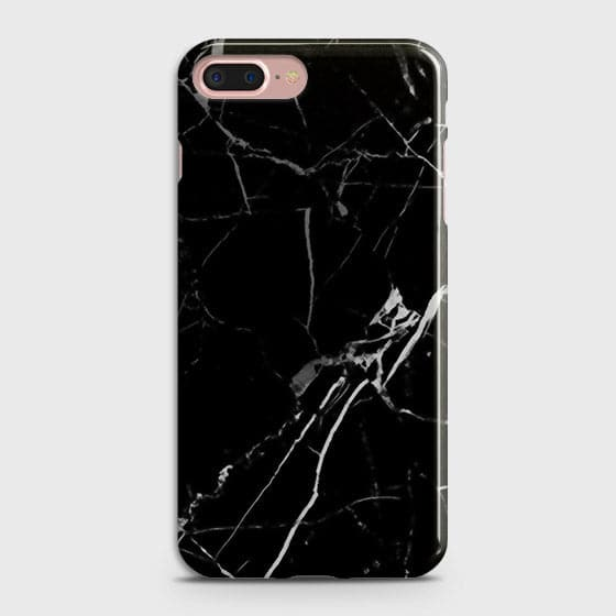 iPhone 7 Plus & iPhone 8 Plus - Black Modern Classic Marble Printed Hard Case
