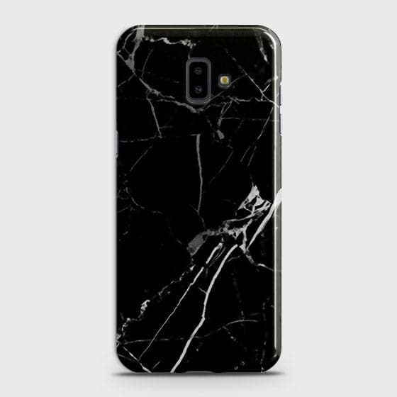 Samsung J6 Plus 2018 - Black Modern Classic Marble Printed Hard Case
