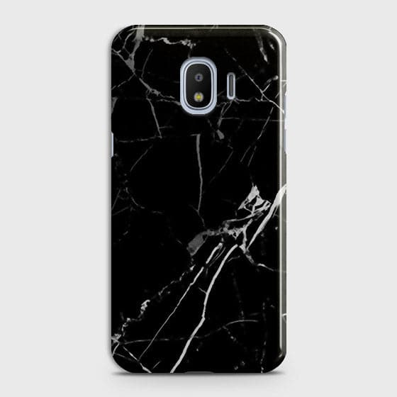 Black Modern Classic Marble Case For Samsung Galaxy J4
