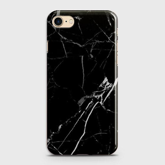 iPhone 7 & iPhone 8 - Black Modern Classic Marble Printed Hard Case