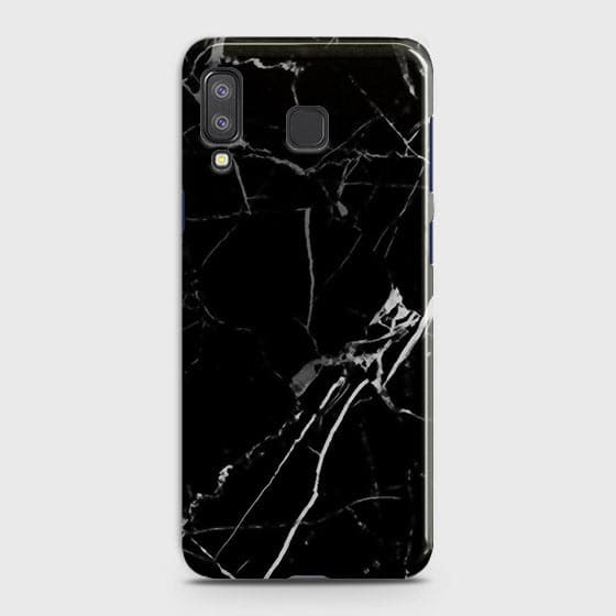 Samsung A8 Star - Black Modern Classic Marble Printed Hard Case