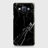 Printed Black Modern Classic Marble Case with Life Time Color Guarantee For Samsung Galaxy E5
