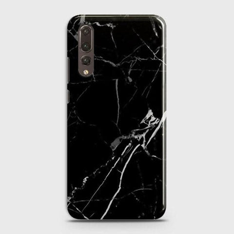 Huawei P20 Pro - Black Modern Classic Marble Printed Hard Case