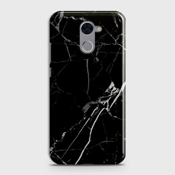 Black Modern Classic Marble Case For Huawei Y7 Prime
