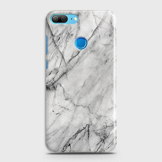 Huawei Honor 9 Lite - Trendy White Marble Printed Hard Case With Life Time Colors Guarantee