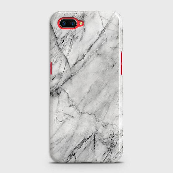 Trendy White Marble Case For Oppo A5