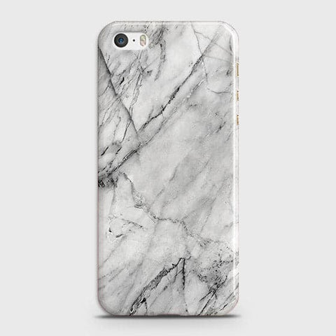 iPhone 5 & iPhone SE - Trendy White Marble Printed Hard Case