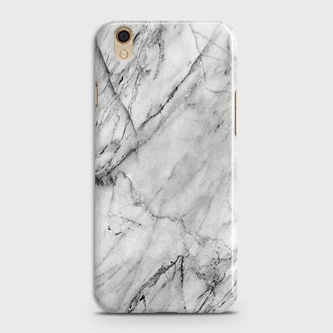Oppo F1 Plus / R9 - Trendy White Marble Printed Hard Case With Life Time Colors Guarantee