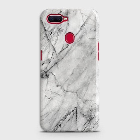 Oppo F9 - Trendy White Marble Printed Hard Case With Life Time Colors Guarantee