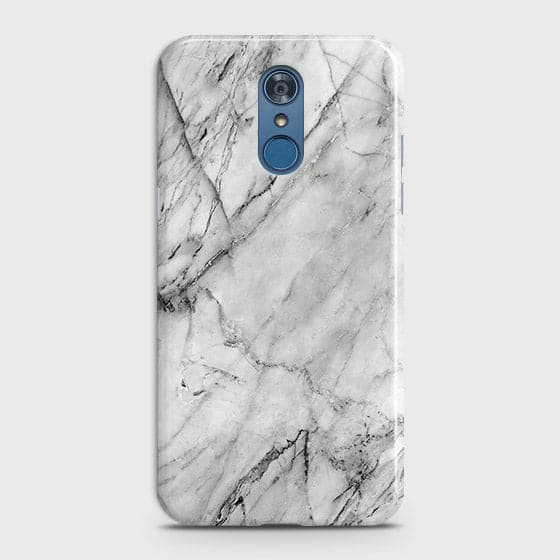 Trendy White Marble Case For LG Q7