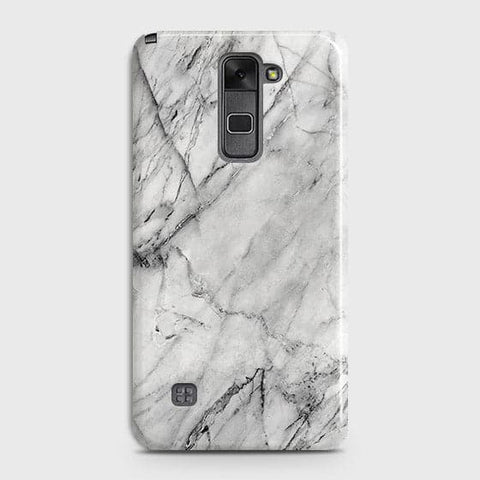 LG Stylus 2 / Stylus 2 Plus / Stylo 2 / Stylo 2 Plus - Trendy White Marble Printed Hard Case With Life Time Colors Guarantee