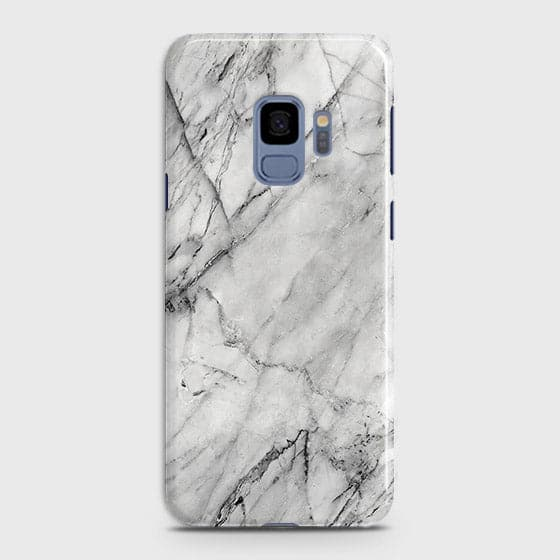 Samsung Galaxy S9 - Trendy White Marble Printed Hard Case