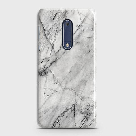 Trendy White Marble Case For Nokia 5