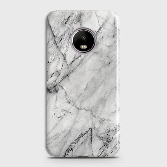 Trendy White Marble Case For Motorola E4 Plus