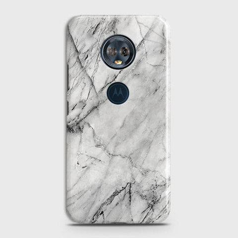 Trendy White Marble Case For Motorola E5 Plus
