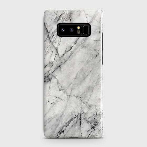 Samsung Galaxy Note 8 - Trendy White Marble Printed Hard Case