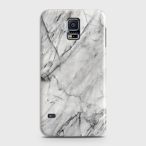 Samsung Galaxy S5 - Trendy White Marble Printed Hard Case