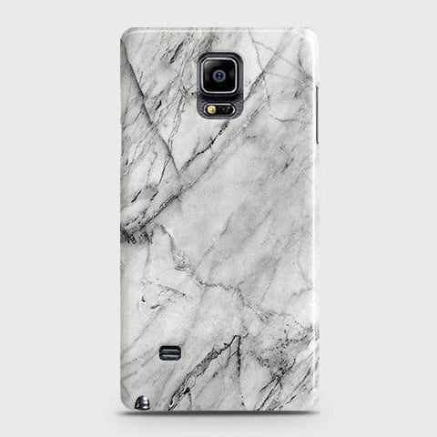 Samsung Galaxy Note 4 - Trendy White Marble Printed Hard Case