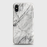 iPhone XS Max - Trendy White Marble Printed Hard Case With Life Time Colors Guarantee