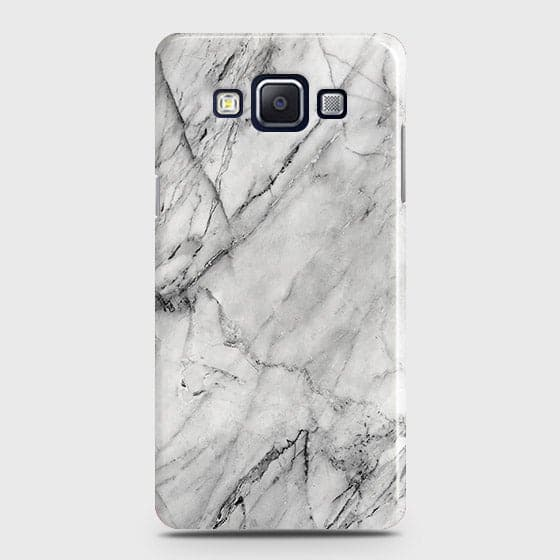 Samsung A7 - Trendy White Marble Printed Hard Case