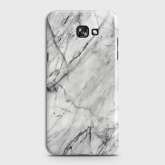 Samsung A7 2017 - Trendy White Marble Printed Hard Case