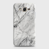 Samsung Galaxy J7 - Trendy White Marble Printed Hard Case