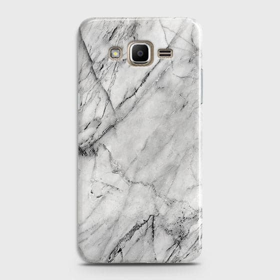 Samsung Galaxy J320 / J3 2016 - Trendy White Marble Printed Hard Case