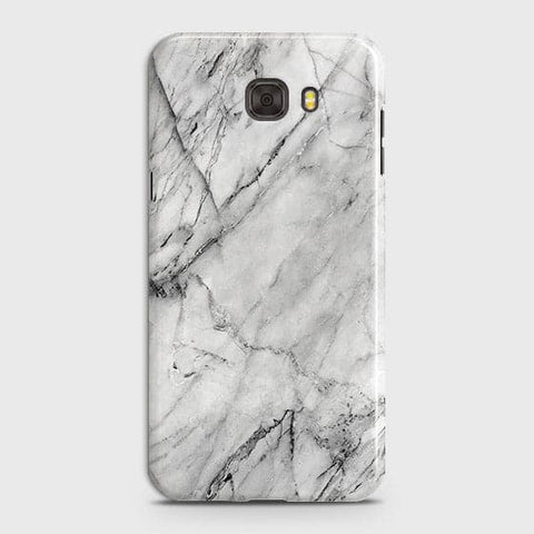 Samsung C7 - Trendy White Marble Printed Hard Case