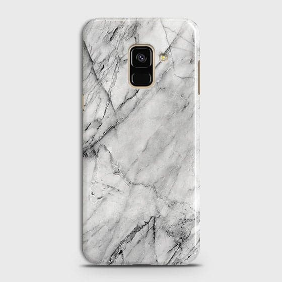 Trendy White Marble Case For Samsung A8 2018