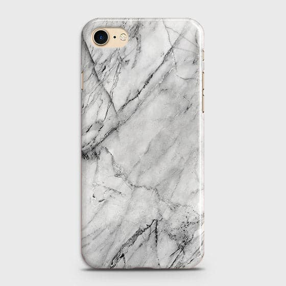 iPhone 7 & iPhone 8 - Trendy White Marble Printed Hard Case