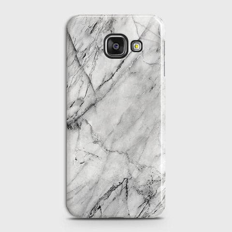 Samsung Galaxy J7 Max - Trendy White Marble Printed Hard Case With Life Time Colors Guarantee