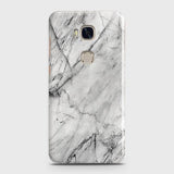 Huawei Honor 5X - Trendy White Marble Printed Hard Case With Life Time Colors Guarantee