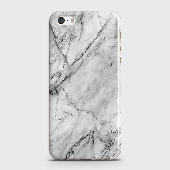 iPhone 5C - Trendy White Marble Printed Hard Case