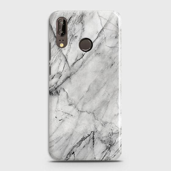 Trendy White Marble Case For Huawei P20