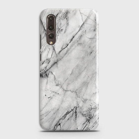 Huawei P20 Pro - Trendy White Marble Printed Hard Case With Life Time Colors Guarantee