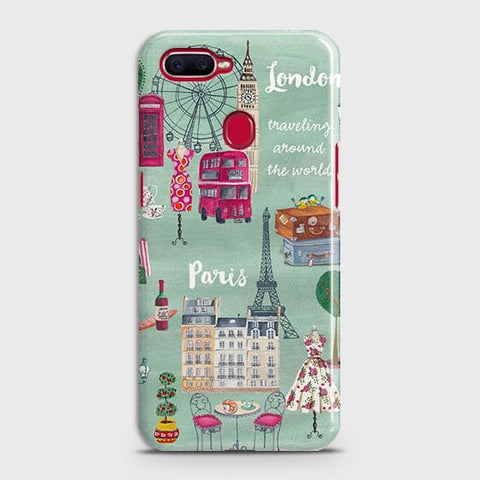 Oppo F9 Pro - London, Paris, New York Modern Printed Hard Case With Life Time Colors Guarantee