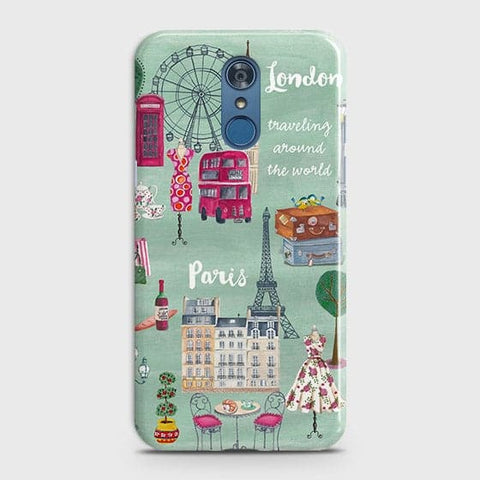 LG Q7 - London, Paris, New York Modern Printed Hard Case Life Time Colors Guarantee