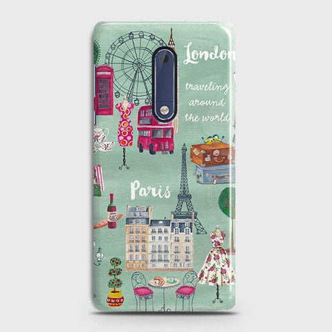 London, Paris, New York Modern Case For Nokia 5