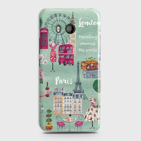 HTC U11 Cover - London, Paris, New York Modern Printed Hard Case With Life Time Colors Guarantee