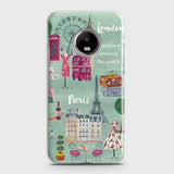 London, Paris, New York Modern Case For Motorola E4 Plus