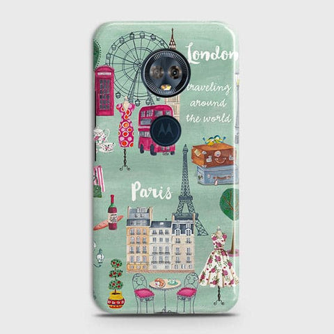 Motorola E5 Plus Cover - London, Paris, New York Modern Printed Hard Case With Life Time Colors Guarantee