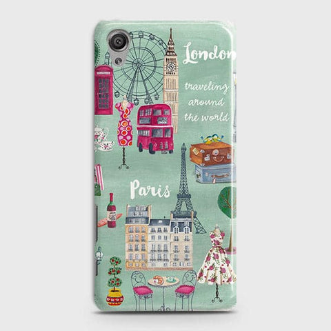 Sony Xperia XA Cover - London, Paris, New York Modern Printed Hard Case With Life Time Colors Guarantee With Life Time Colors Guarantee
