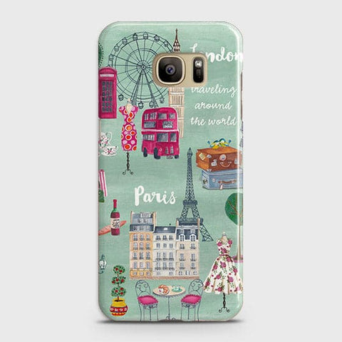 Samsung Galaxy S7 - London, Paris, New York Modern Printed Hard Case With Life Time Colors Guarantee