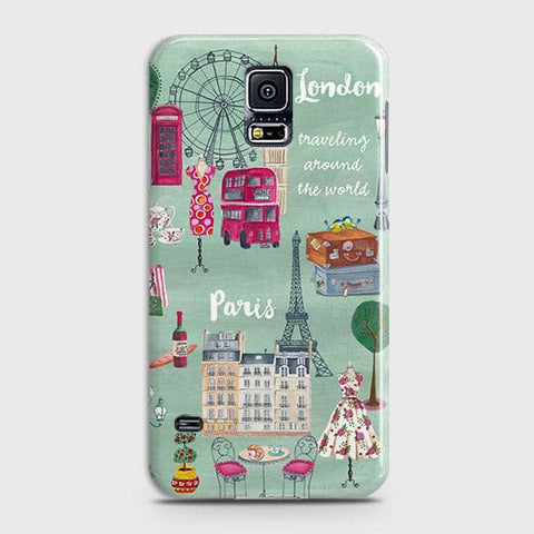 London, Paris, New York Modern Case For Samsung Galaxy S5