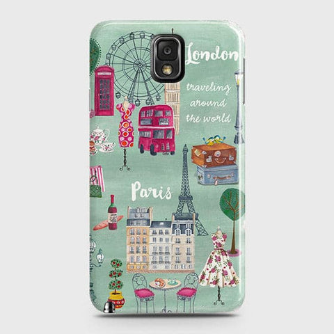 Samsung Galaxy Note 3 - London, Paris, New York Modern Printed Hard Case With Life Time Colors Guarantee
