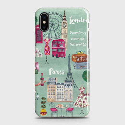London, Paris, New York Modern Case For iPhone XS Max