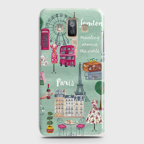 Samsung Galaxy J7 Duo - London, Paris, New York Modern Printed Hard Case With Life Time Colors Guarantee