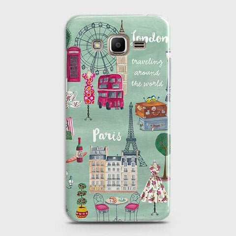 Samsung Galaxy J320 / J3 2016 - London, Paris, New York Modern Printed Hard Case With Life Time Colors Guarantee