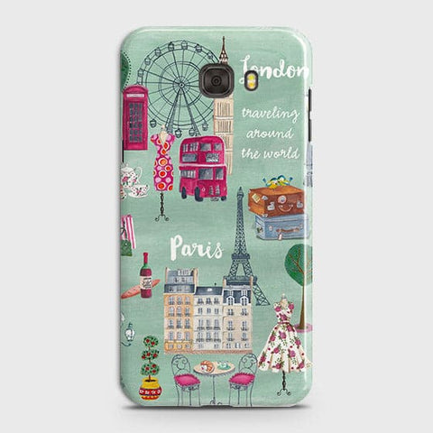 Samsung C5 - London, Paris, New York Modern Printed Hard Case With Life Time Colors Guarantee