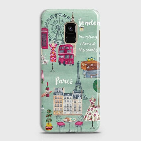 London, Paris, New York Modern Case For Samsung A8 2018